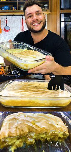 APRENDA A FAZER ESSA TORTA DE BANANA COM SUSPIRO E NUNCA MAIS IRÁ QUERER FAZER OUTRA! #torta #tortadebanana #banana #doces #sobremesas #manualdacozinha