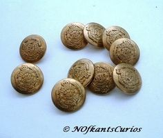 10 Vintage Military Style Metal Buttons! £2.00