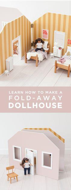 Fold-away dollhouse DIY