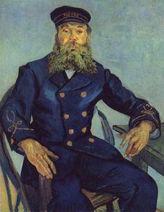 Vincent Willem van Gogh.  Porträt des Briefträgers Joseph Roulin. 1888, Öl auf Leinwand, 81,2 × 65,3 cm. Boston, Museum of Fine Arts. Niederlande und Frankreich. Neo-Impressionismus.  KO 01575