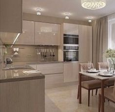 Open Plan Kitchen Living Room, Kitchen Room Design, Bathroom Design Small, Small Living Rooms, Modern Kitchen Design, Home Decor Kitchen, Interior Design Kitchen, Kitchen Cabinet Styles, Modern Kitchen Cabinets