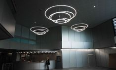 LED direct light pendant lamp TOCCATA by Sattler