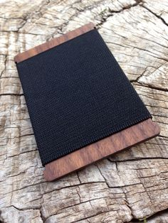 a manly minimalist wallet made from hardwood walnut! beautiful, essential and useful! CNCH by Portsmith Co.