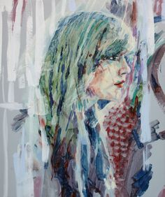 """Artist: Liam Marc O'Connor (UK: 1981); oil 2014 Painting """"EILY"""""""