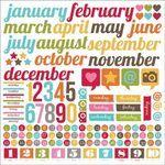 SN@P! - 12 x 12 Cardstock Stickers - Calendar
