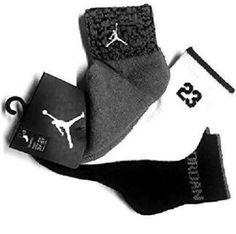 sale retailer d93b7 f38e3 3 Pair Nike Air Jordan Kids Quarter Socks Shoe 5Y-7Y Black Gray White Gift  (L21)