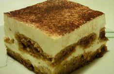 Tiramisu 1.2.3.4 fáza Healthy Sweets, Tiramisu, Diet Recipes, Sweet Tooth, Food And Drink, Health Fitness, Low Carb, Keto, Panna Cotta