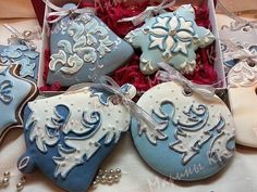 Christmas cookie snow patterns   Maro