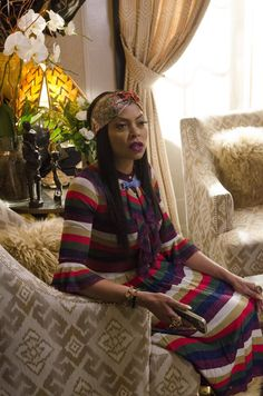 Pin for Later: Cookie Lyon's Look Is on Point For Empire's Season Finale Season 2 Rainbow-hued Gucci makes for casual glam.