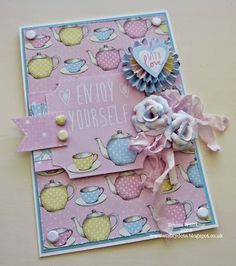 Enjoy Yourself by Emma Williams Craftwork Cards, Coffee Cards, Love Valentines, Craft Work, Teacups, Hot Chocolate, Cardmaking, Cocoa, Card Ideas