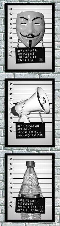 """#Cartazes que participaram da exposição sobre as manifestações """"Calar a boca nunca mais 2"""" no Matilha Cultural - Apareceu no Guia da Folha sobre a mostra - goo.gl/WqeQ8H"""