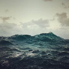 There is nothing more beautiful than the sea on a windy day