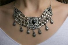 Top-rated seller!!! Unique Antique Ancient Yemen Necklace Silver 925 Ethnic Art Jewelry Handmade