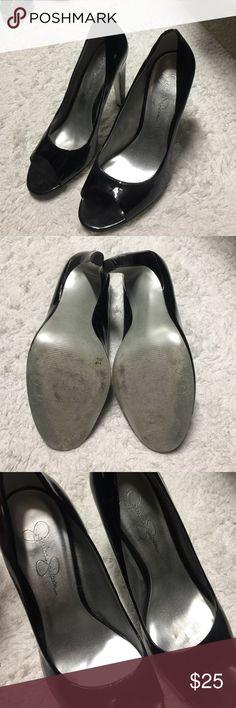 Jessica Simpson Pumps Peep toe. Worn twice. Patent leather. Jessica Simpson Shoes Heels