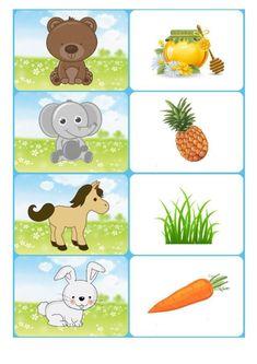 Kto co zjada Preschool Activity Books, Preschool Education, Free Preschool, Preschool Worksheets, Preschool Crafts, Educational Games For Kids, Toddler Learning Activities, Montessori Activities, Infant Activities