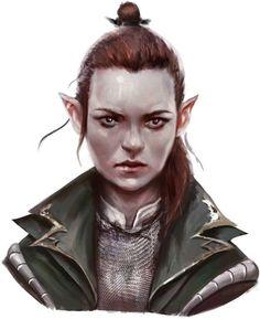 f Half Elf Ranger Chain Armor portrait Résultats de recherche d'images pour « curse of strahd + kids »