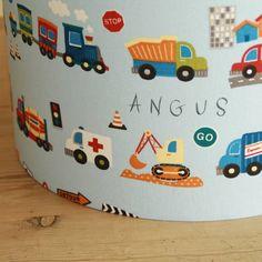 Child's Traffic Personalised Lampshade