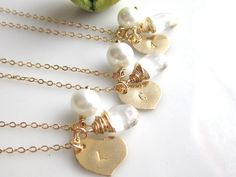 Wedding Jewelry  Gift Set of Three Gold Filled by cocowagner, $88.50