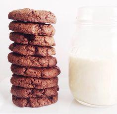 "Nut-Free Chocolate ""Peanut Butter"" Cookies by taylormadeitpaleo.com #paleo #nutfree"