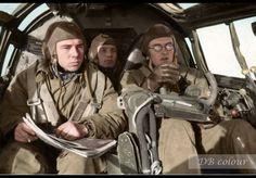 A German Heinkel He.III long range medium bomber with it's Navigator, Pilot a...