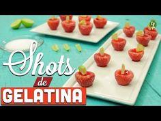 ¿Cómo preparar Shots de Gelatina de Fresas? - Cocina Fresca - YouTube