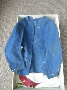 French Workman's Jacket, c1780, pinned by pinner.