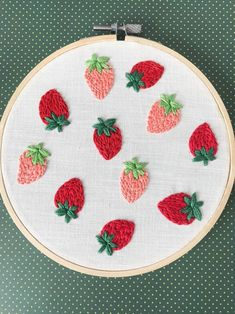 Strawberry Fields Embroidery Pattern PDF Digital Download Hoop Art 6