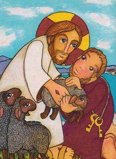 JESÚS PONE EN MANOS DE PEDRO, SU QUERIDO REBAÑO
