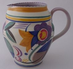 Fine Early Poole Pottery Truda Carter Jug - Art Deco
