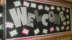 Polka Dot Classroom - this would be cute on a fall door