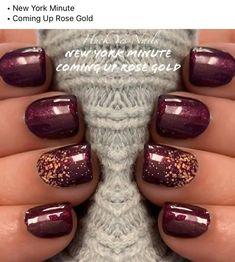 Get Nails, Fancy Nails, How To Do Nails, Pretty Nails, Hair And Nails, Nail Color Combos, Fall Nail Colors, Toe Nail Color, Dipped Nails