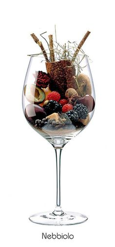 nebbiolo aromas - cherry, plum, blackberry, raspberry, rose, cinnamon, caramel, leather, clove, black pepper, licorice, hay, almonds
