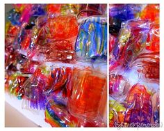 Recycled Water Bottles {Plastic Bead Mosaic}