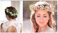 Stylish ways of floral wedding hairstyles for pretty bride