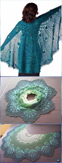 KnitPretty As A Peacock Shawl Pattern - Knit Scarf & Wrap Shawl Patterns