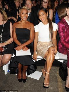 Strong bond: The pair, seen here in September, are very close despite Jada having a tough start to life as Adrienne suffered from drug addiction issues for close to two decades