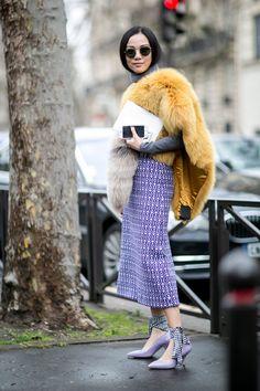 Fall 2016 Paris Fashion Week Street Style Day 9 - March 9, 2016 #pfw #MiuMiu