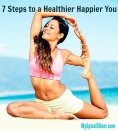 7 Steps to a Healthier Happier You http://www.blog.myspiralslicer.com/health