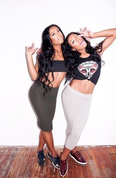 Squad Shit Sisters Twins Fashion Clermonttwins Shannon & Shannade Clermont