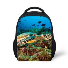 tropical fish printing toddler backpacks for children colorful ocean animal school bags kindergarten kids mochilas infantiles - Colorful Fish Book