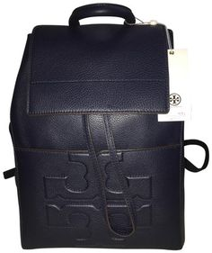 40c62337dc33 Tory Burch T Bombe Navy Cowhide Leather Backpack 31% off retail