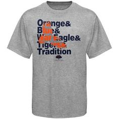 Orange, Blue, War Eagle, Tigers Tradition
