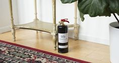 A fully functioning fire extinguisher that looks like a bottle of wine.  Get it from Safe-T on Ahalife for $99.99.