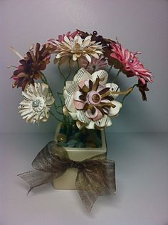 Sheet Music #Paper Flowers - These are not quilled but they could be!