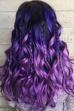 33 Cool Ideas of Purple Ombre Hair – Hair style Purple Ombre, Hair Color Purple, Cool Hair Color, Ombre Hair Lavender, Hair Color For Kids, Violet Hair Colors, Purple Stuff, Funky Hair Colors, Hair Dye Colors