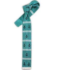 Knit Anchor Stripe - Aqua (Skinny) | Ties, Bow Ties, and Pocket Squares | The Tie Bar