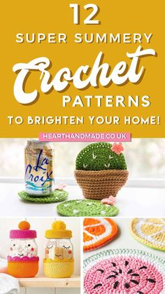 Want some summer crochet patterns so that you have some fun crochet gifts to make on your vacation?! Whether you're in the park, yard or on vacation, you could make a couple of quick and easy crochet gifts with any of these free crochet patterns! Crochet doesn't just have to keep you entertained in the winter months, there are a lot of quick and easy crochet patterns available for you to make all year long! These crochet patterns for spring and summer are ADORABLE! Crochet Gifts, Free Crochet, Crochet Things, Crochet Round, Crochet Flower, Crafts To Sell, Diy Crafts, Diy Locker, Diy Wood Wall