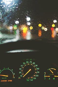Night driving in the rain Rainy Night, Rainy Days, Night Rain, Nocturne, I Love Rain, Night Driving, When It Rains, Just Dream, Pics Art