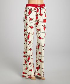 Love this Cream 'Almoose Asleep' Pajama Pants - Women on #zulily! #zulilyfinds