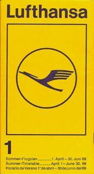 Lufthansa Timetable, 1969